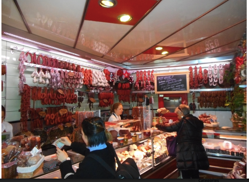 Buying Christmas sausages in Rothenberg