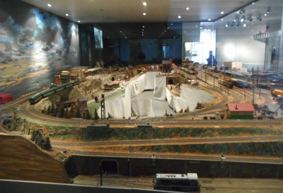 Amazing model railroad display at Nuremberg Toy Museum