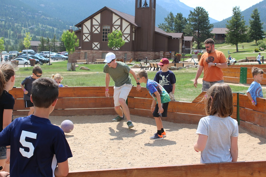 Playing GaGa Ball at YMCA of the Rockies in Estes Park CO