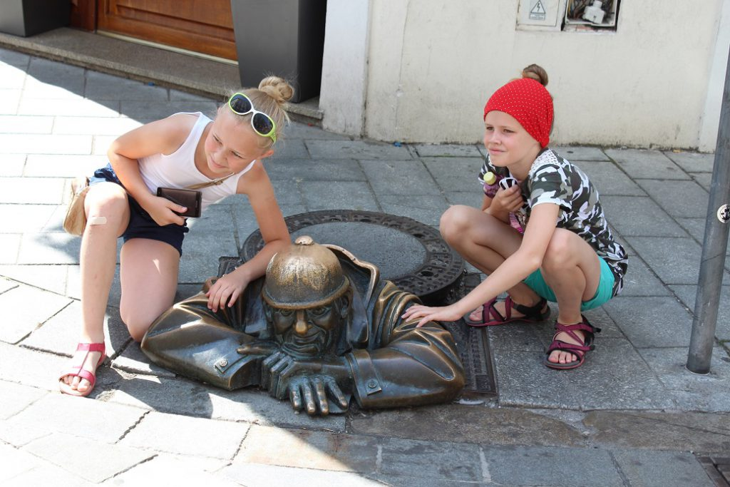 One of the most visited statues in Bratislava