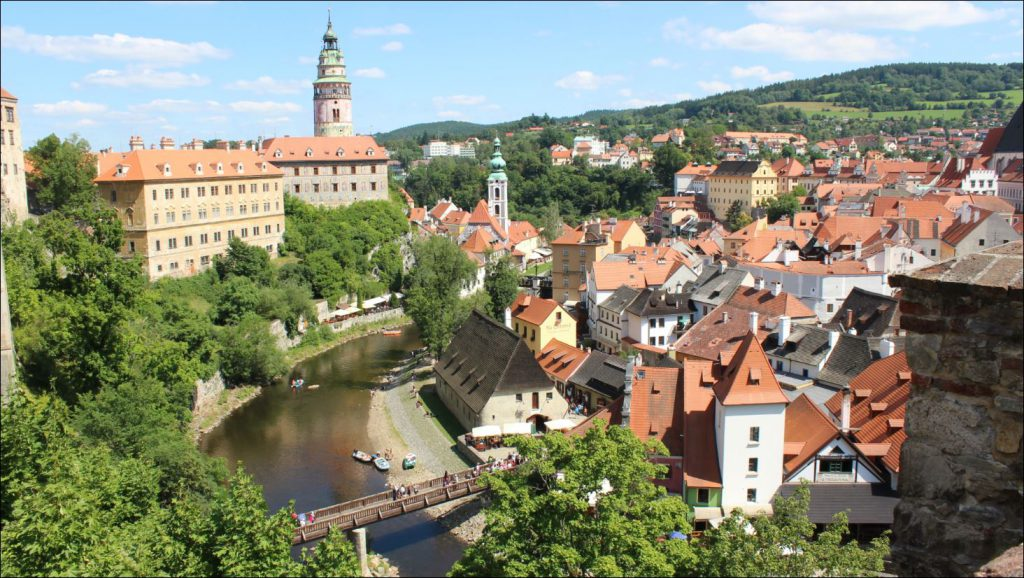View from one part of the castle to the other in Old Cesky Krumlov