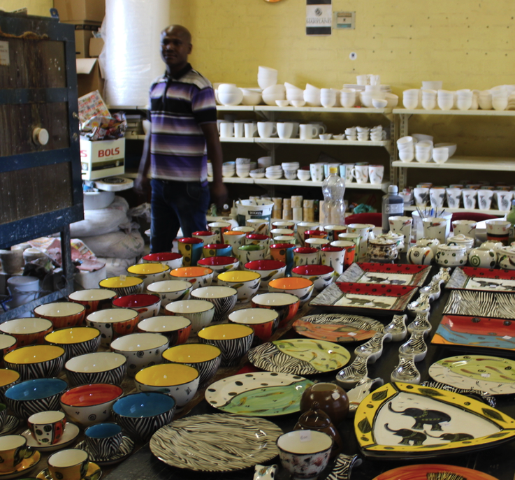 Ceramics being made in Langa Township