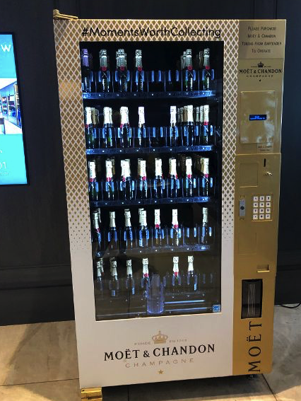 Champagne vending machine in the Hotel Talisa