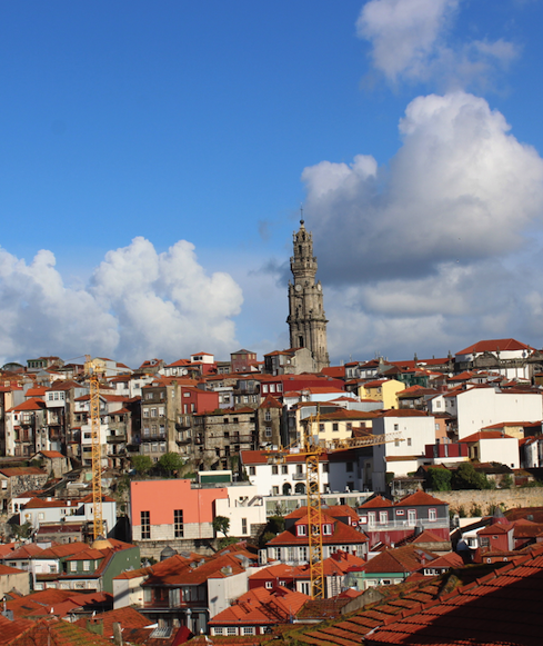 View at the top of Porto