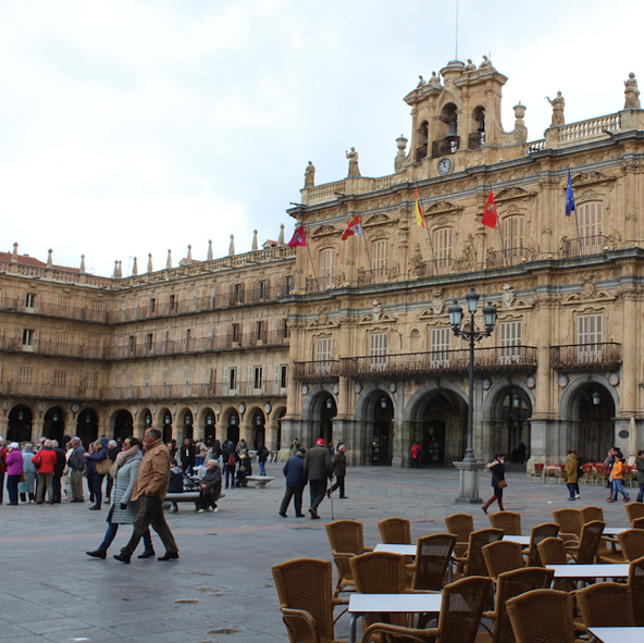 No border checkpoint – Salamanca Spain from Portugal's Douro River on CroisiEurope cruise