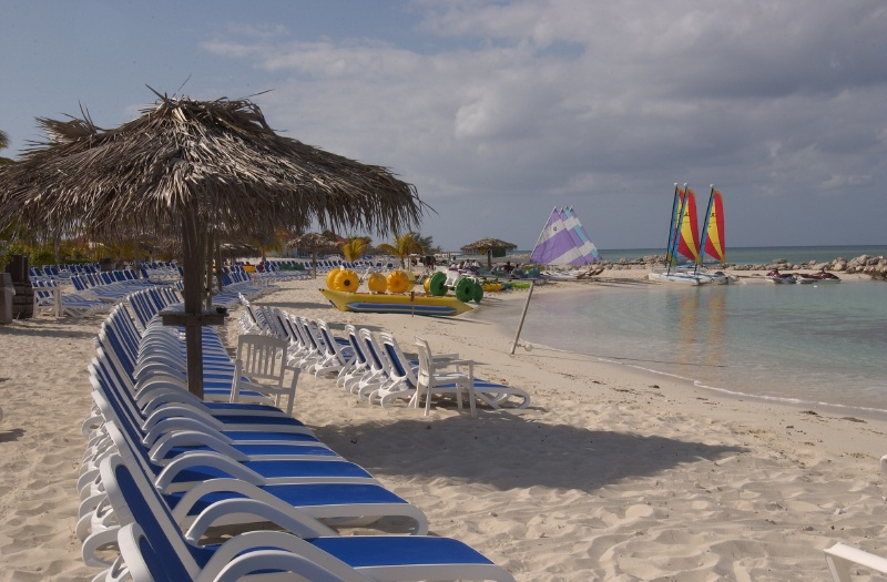 Princess Cays chairs and sailboats
