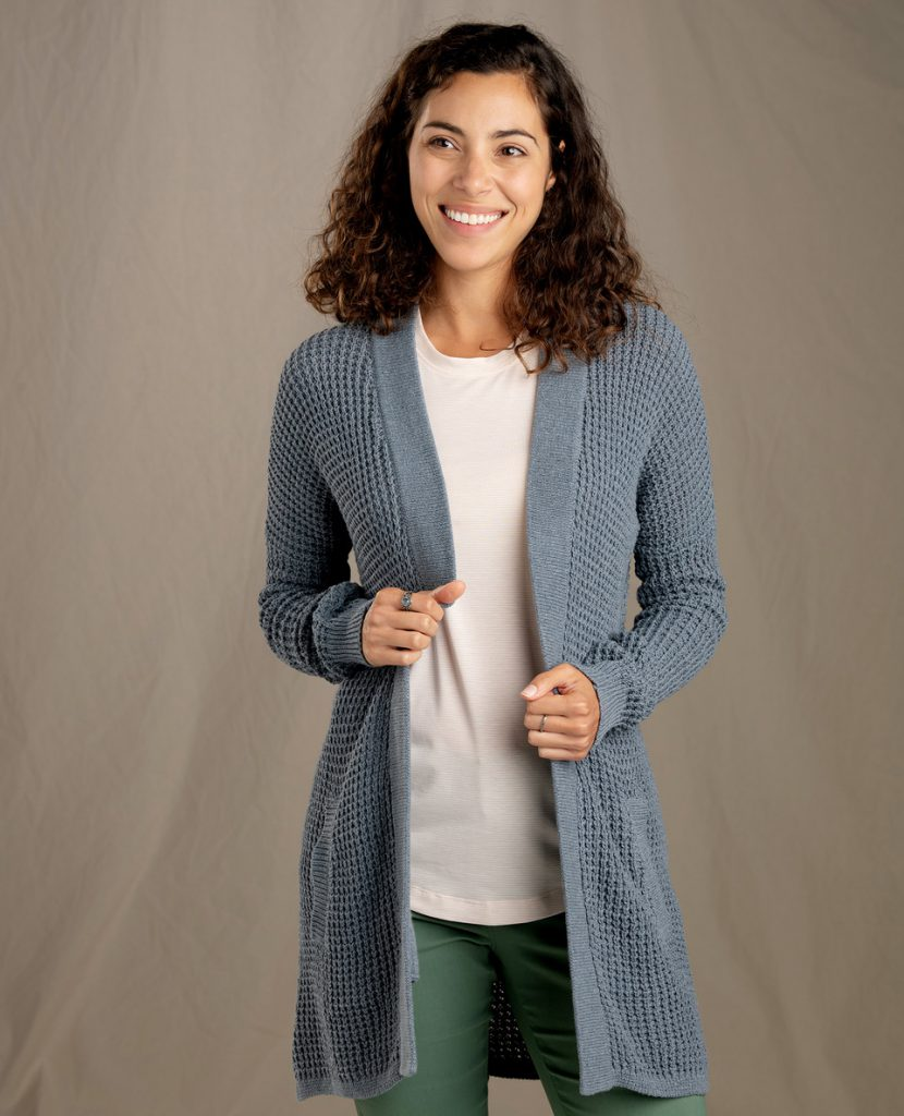 Recycled denim cardigan from Toad & CO
