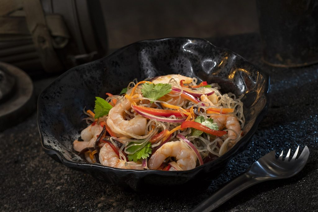 The Yobshrimp Noodle Salad, found at Docking Bay 7 Food and Cargo