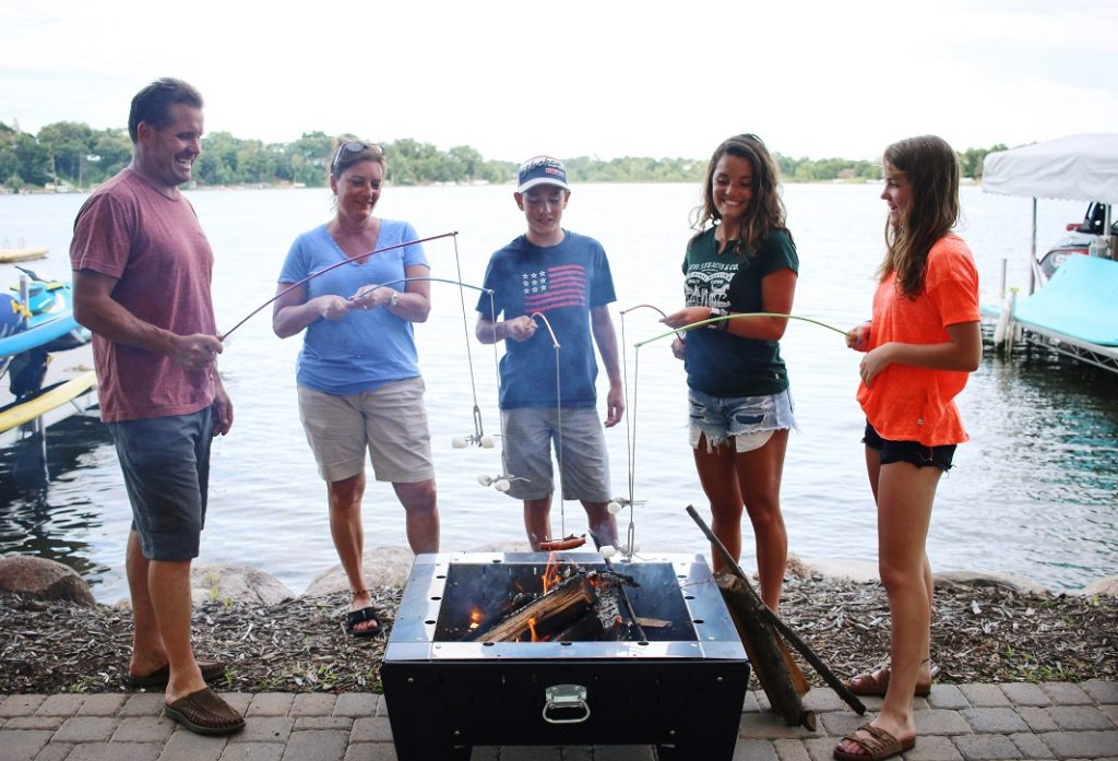 FireBuggz's Fire fishing poles that let you flip the marshmallows while on the pole