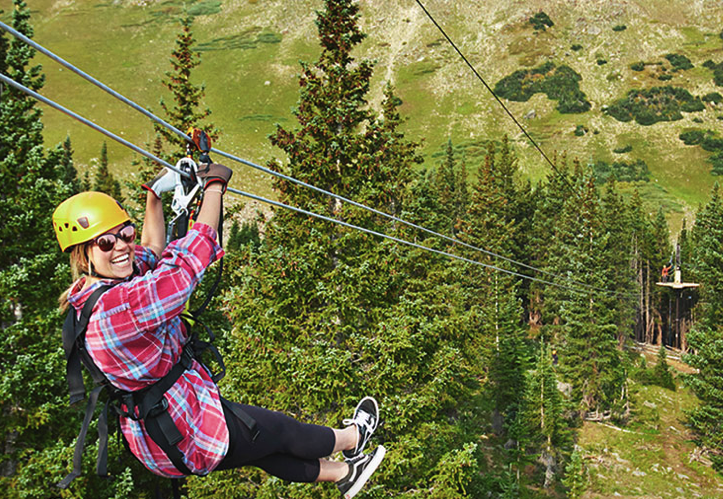 Zipline at Epic Discovery