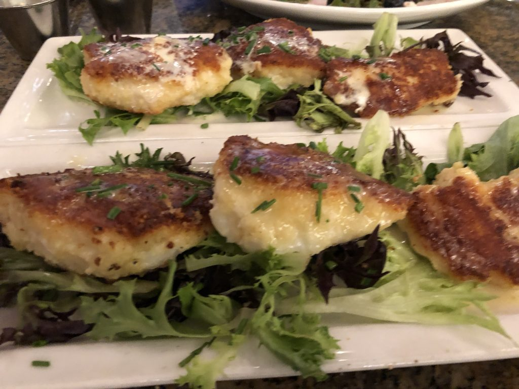 Halibut cheeks served up for dinner