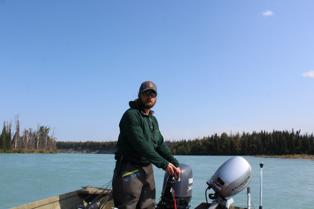 Our guide Sean Smart on the Kenai River