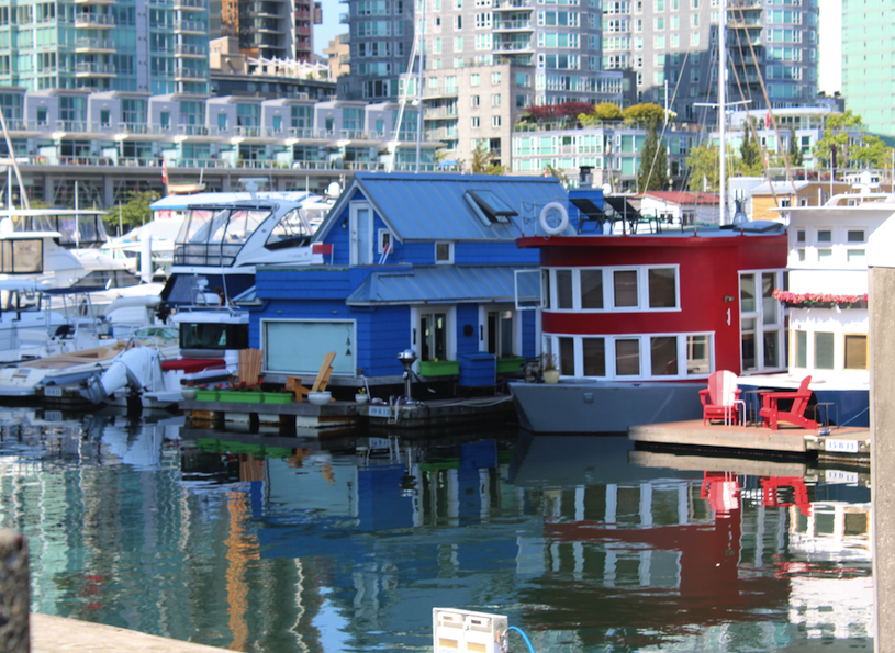 House boats near Granville Island