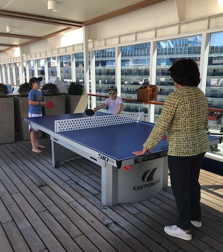 Multigenerational ping-pong aboard Regent Seven Seas Mariner