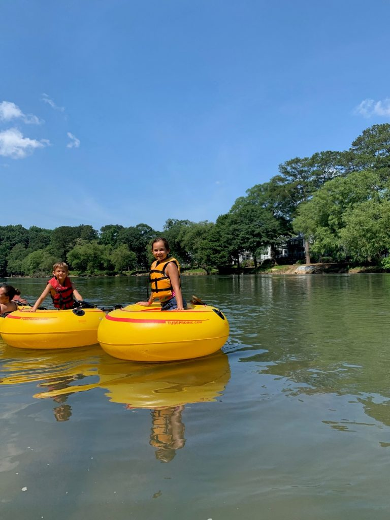 The best benefit of tubing is families unplug from their phones and plug in with nature
