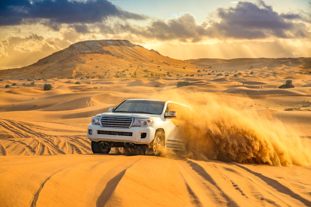 Off-roading in the desert
