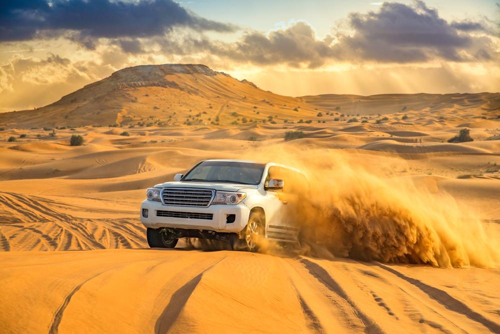 Off-roading in the desert