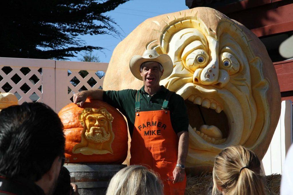 Pumpkin carving at the Half Moon Bay Art and Pumpkin Festival