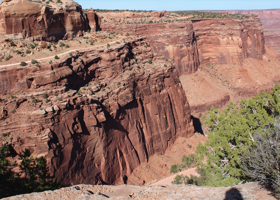 Spectacular Schafer Canyon in Canyonlands NP