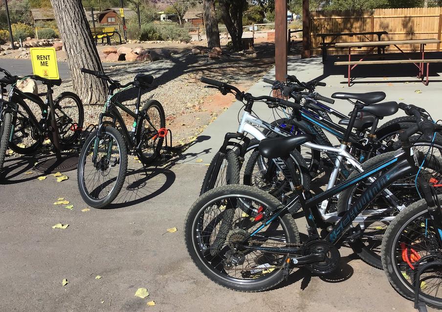 Bikes for rent at KOA Moab Campground
