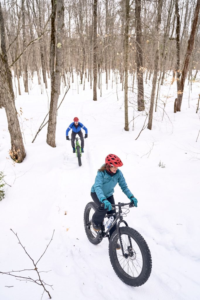 Fat Tire biking at Bradbury Mountain State Park in Pownal