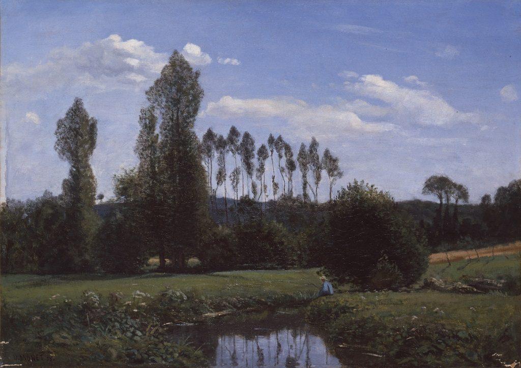 Claude Monet, View from Rouelles, 1858