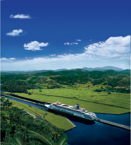 Holland America on the Panama Canal