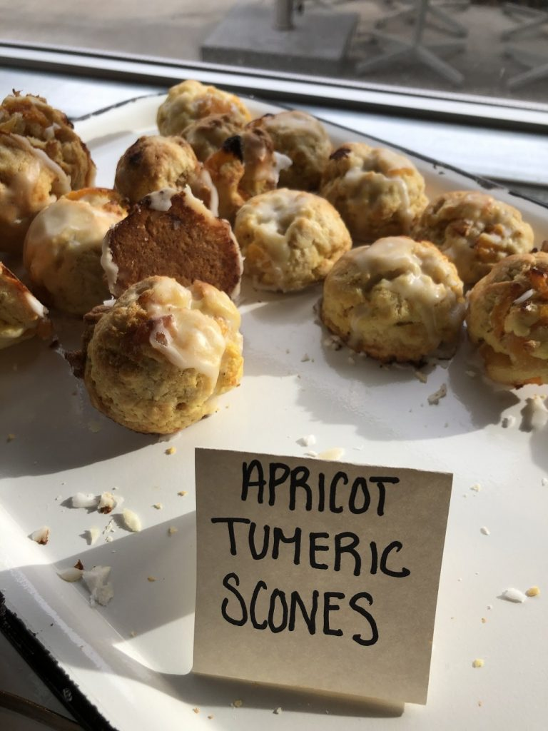 The apricot tumeric scones at Safta were to die for