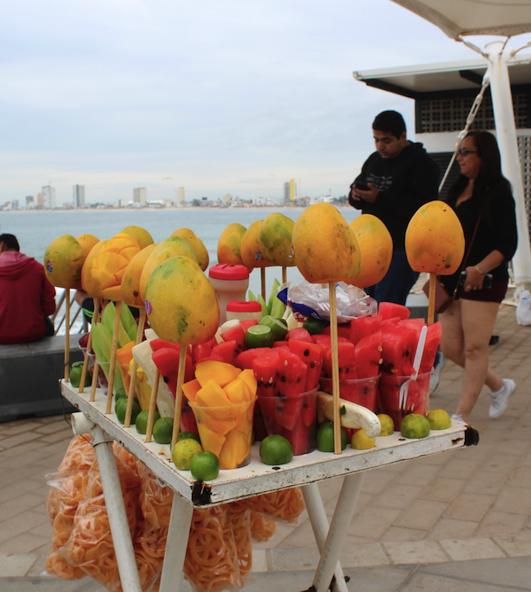 Fruit sweets along the Matzalan Malecon