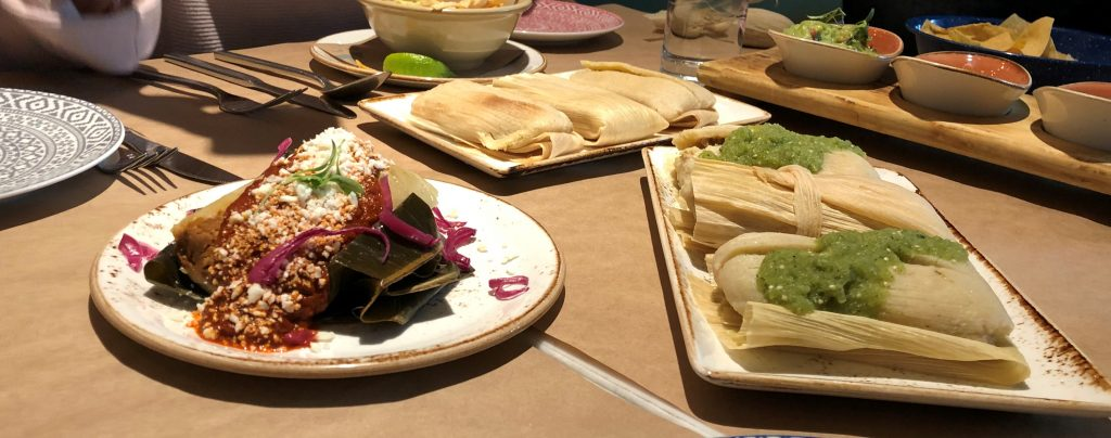 The tamales are ready to eat