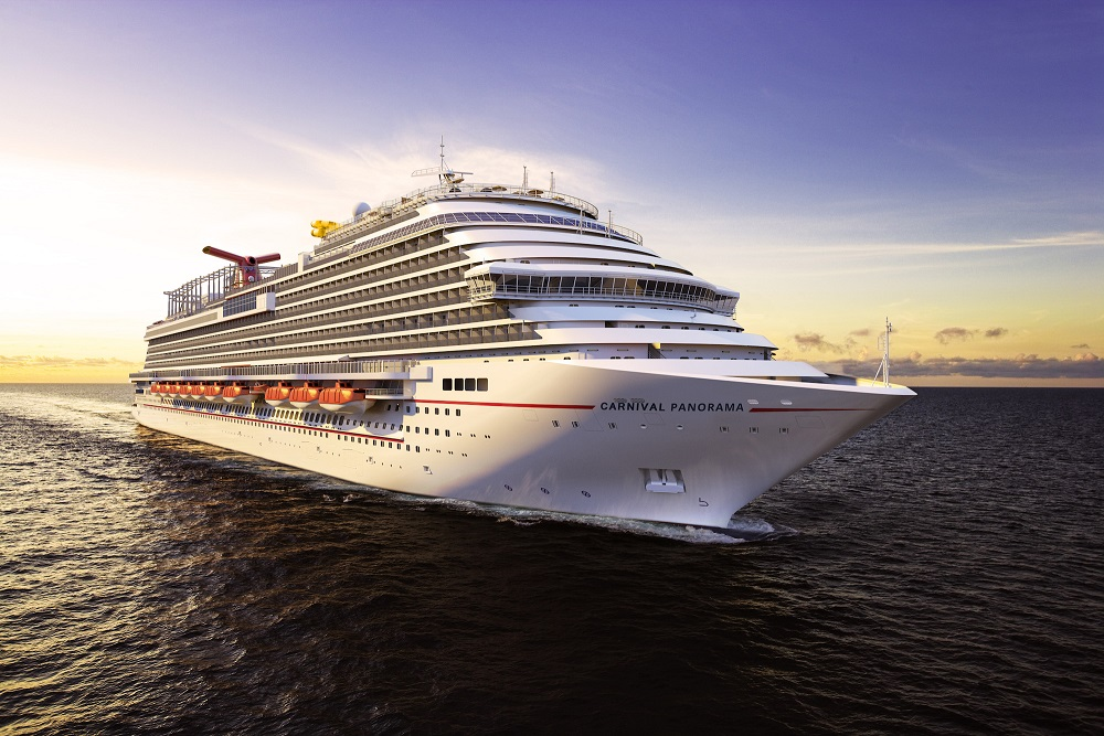 Carnival Panorama, the newest class of ship in the fleet