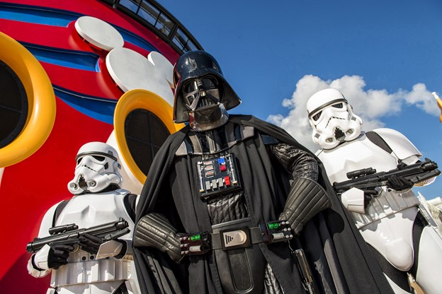 """Disney Cruise Line guests can experience the legendary adventures and iconic characters from the Star Wars saga in a day-long """"Star Wars Day at Sea"""" Photo by Matt Stroshane, c. Disney Cruise Line"""
