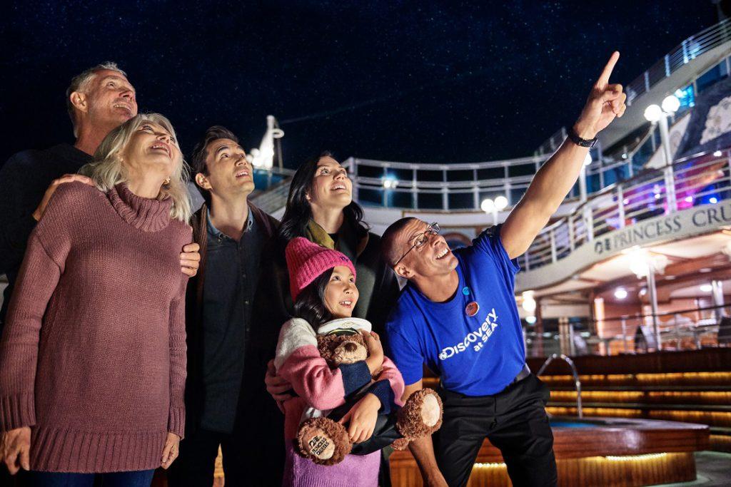 Stargazing aboard a Princess Cruise