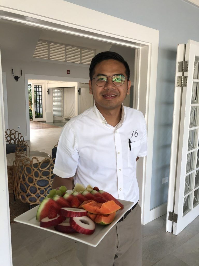 Fruit plate on demand at Sundown Villa