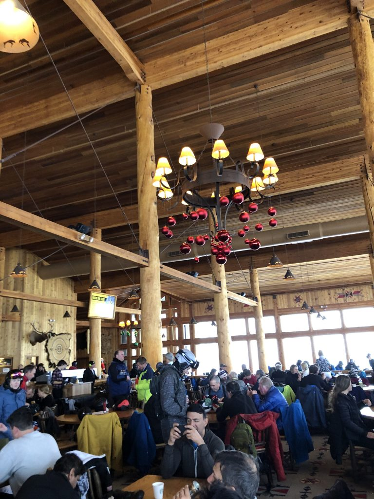 Lunchtime at the 2Elk Restaurant on the top of Vail Mountain and the Legendary Back Bowls