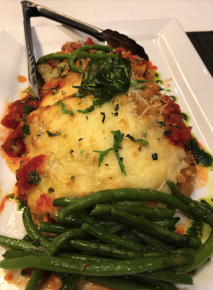 Chicken Parmigiana at Canaletto aboard Oosterdam