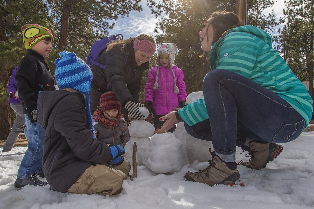 Snowman building at YMCA of the Rockies