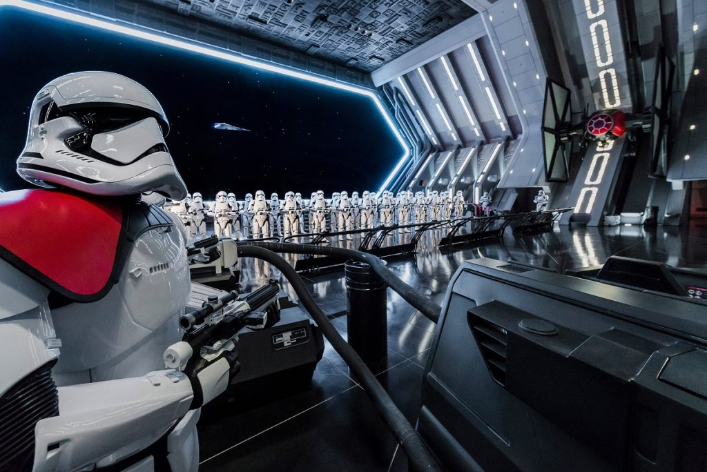RISE OF THE RESISTANCE -- Disney guests will traverse the corridors of a Star Destroyer