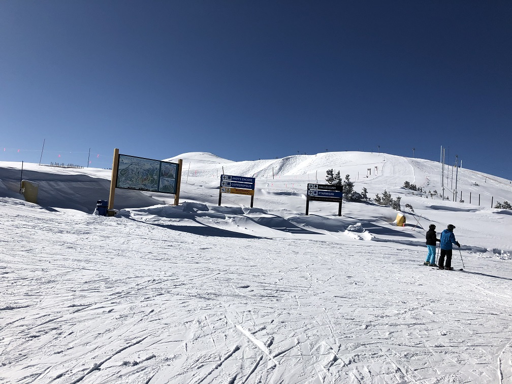 At the top of Copper Mountain