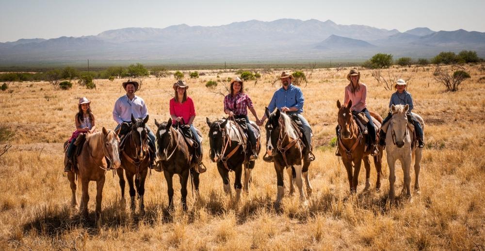 A family reunion trailride at the Elkhorn AZ Dude Ranch