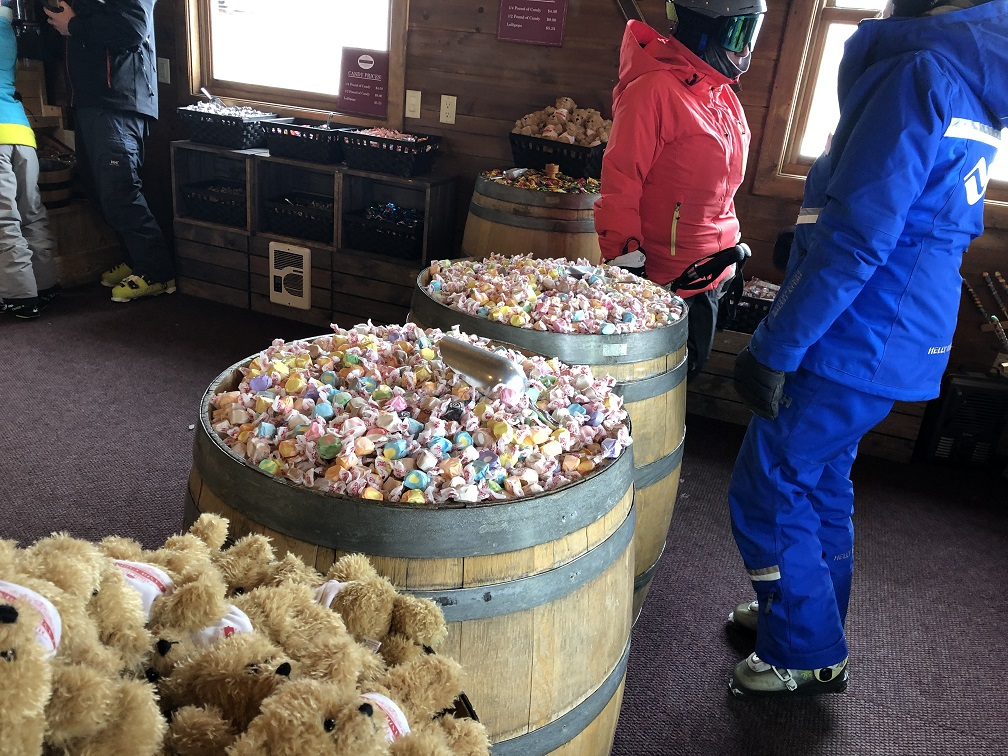 Inside the Candy Cabin on top of Strawberry Park at Beaver Creek