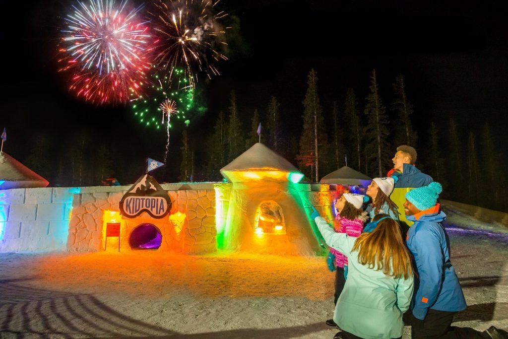 Kidtopia Snow Fort at Keystone Resort in Colorado