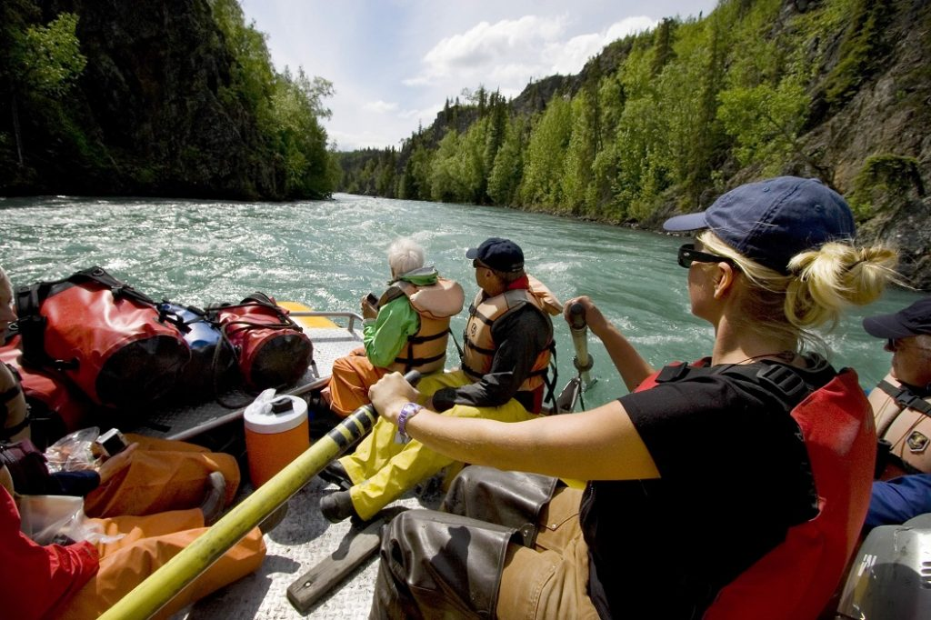 Rafting the Kenai River