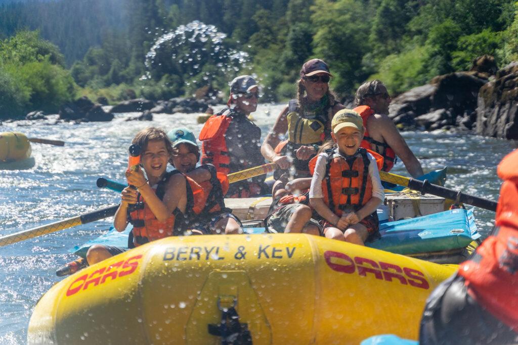 An OARS family raft trip