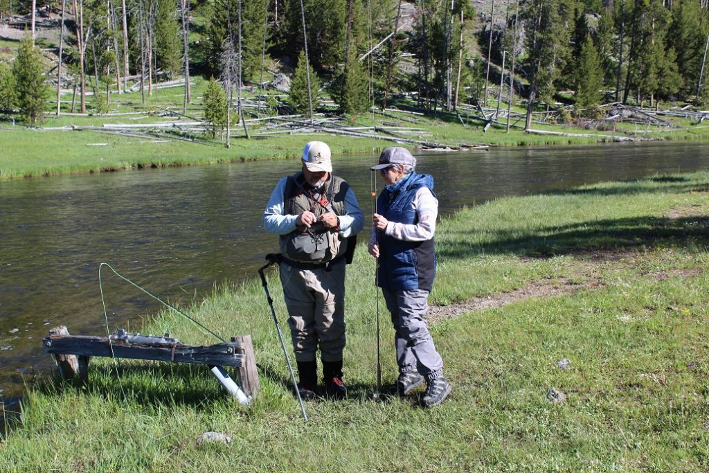 Getting ready to go fly flshing in the Firehole River in Yellowstone NP