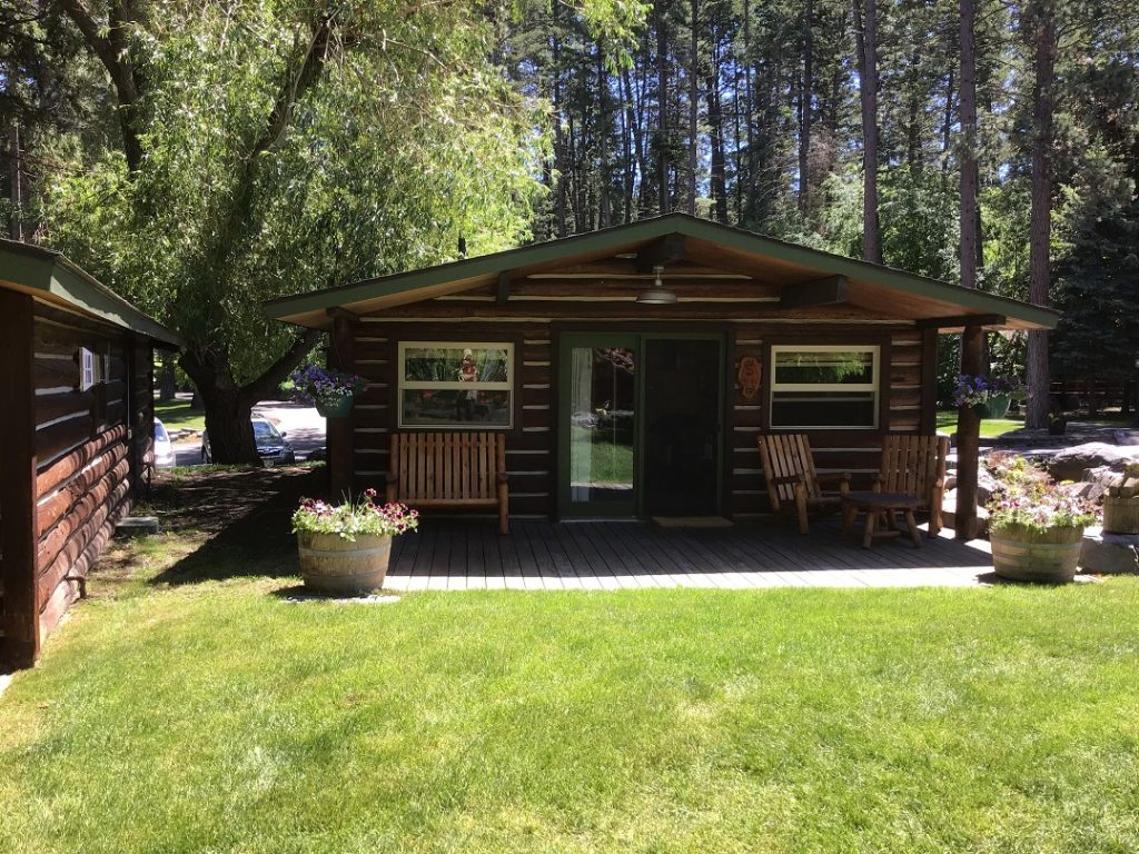 Our cozy cabin at Flathead Lake Lodge in NW Montana