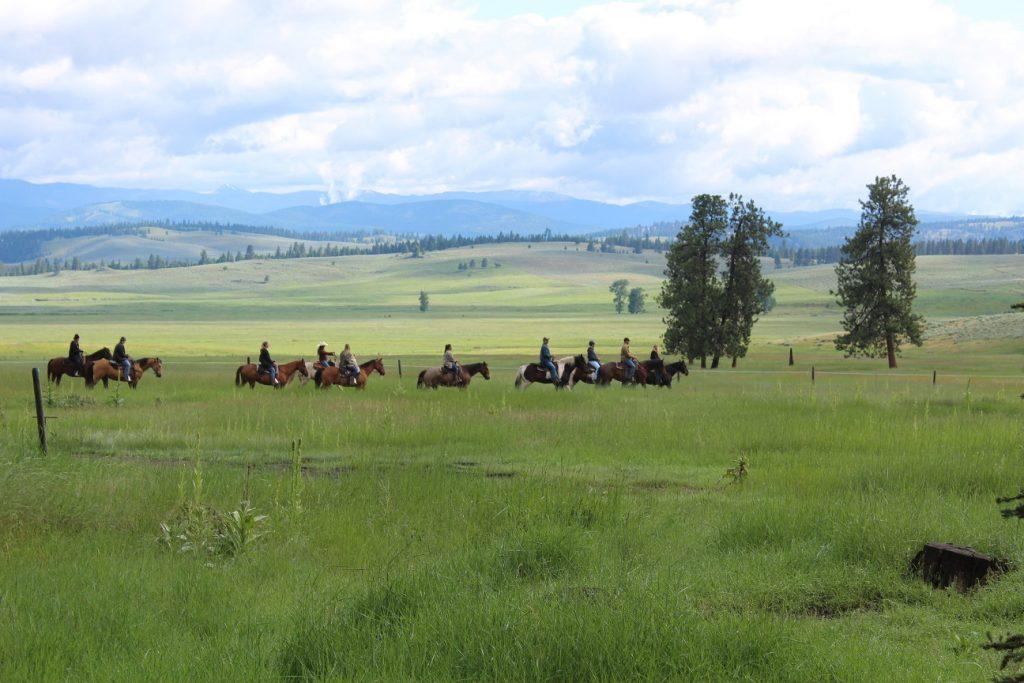 Horseback riding at Paws Up