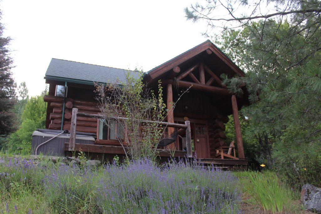 Our cozy cabin at River Dance Lodge near Kooskia Idaho