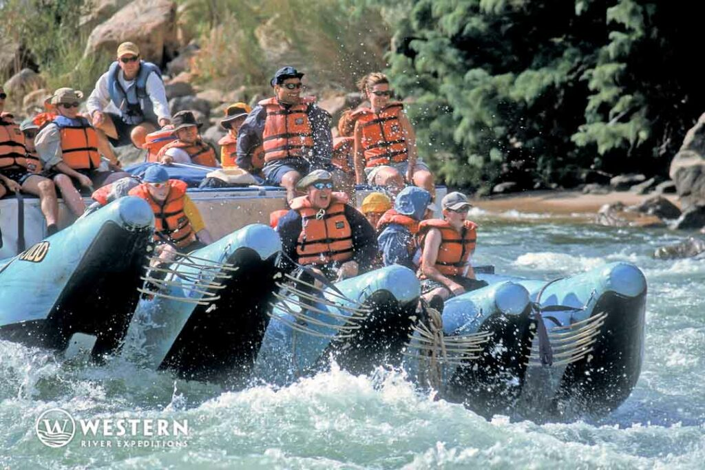 The lower Grand Canyon offers stunning views, milder rapids and some fun side excursions