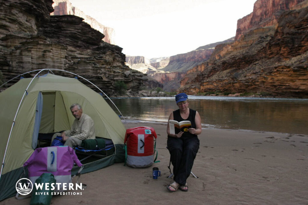 Camping by the Colorado River in the Grand Canyon